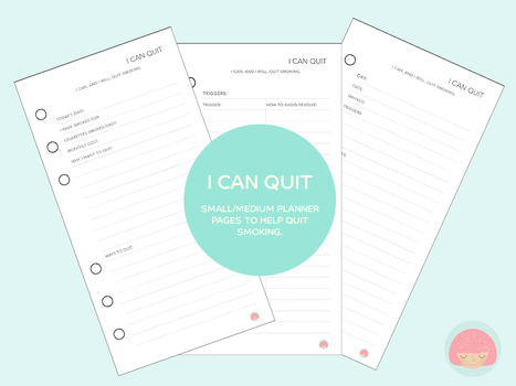 Free Planner Printable: I can quit (smoking) by apparate