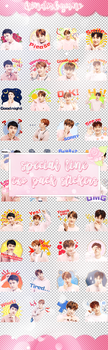 EXO LINE STICKERS PACK // by kinderbyuno by KinderByuno