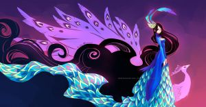 Colorful Wings: Peacock by ZiyoLing
