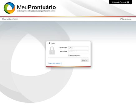 Meu Prontuario Sistema login by deivison