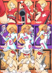 Pulp Girls sketch card set 1 by KidNotorious
