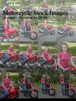 Stock: Motorcycle Chick by JessicaDru