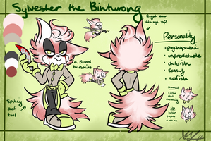 Sylvester the Binturong REF SHEET by Blossom-fur7