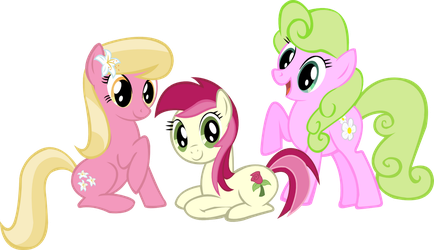 The flower sisters of Ponyville by Vector-Brony