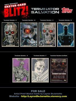 FOR SALE: Terminator Sketch Cards by DeJarnette