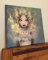Muyte hand embelleshed canvas by lalalandofclouds