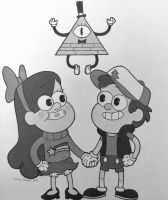 Gravity Falls Vintage Cartoon by AligerousWayfarer
