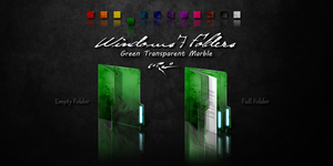 Green Windows 7 Folders by Drawder