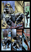 Coloring - Predator Vs Spider Man - Sequential Art by andreranulfo