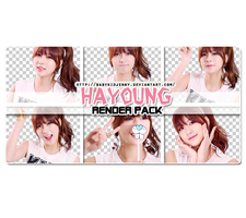 [RENDER-PACK] Hayoung (A Pink) by babykidjenny