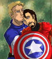 Captain America x Iron Man by Neoaves