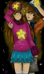 Gravity Falls - Mabel and 'Dipper' by Samikleo