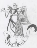 Jack and Sally by FreakshowFenner