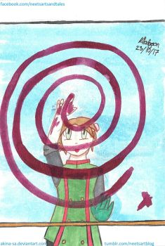 85. Spiral AKA Finger Painting by Akina-SA