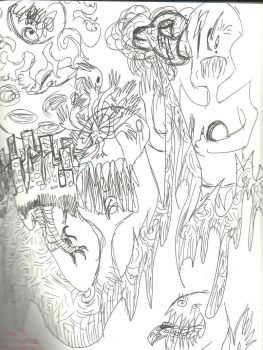 And This Is What Happens When Im Bored With A Pen  by insaneinthetoe