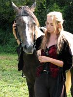 horse and human stock by linka064