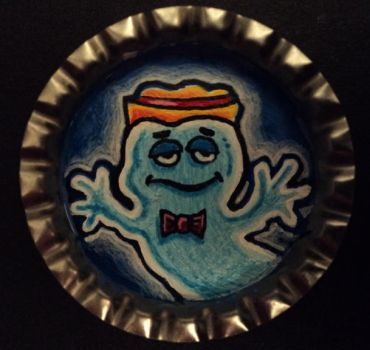 Boo Berry Bottle Cap Monster by Mr-Mordacious