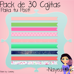 Pack Cajitas Post by NayEditiions