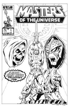 Masters of the Universe #1 Cover Recreation by dalgoda7