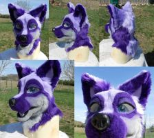 Purple Fox Head by Plus3Defense