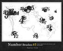 Number brushes #5 by smallElnis