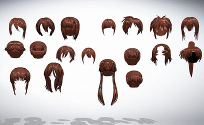 MMD Front hair pack 04 57-74 of 50+ by amiamy111