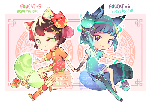 [CLOSED] Auction Adopt: Forcat #5 and #6 by ToasterKiwi