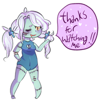 Thanks for watching me. by LunaticLily13