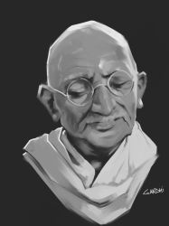 Gandhi by CatCurly