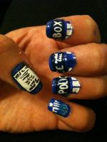 Doctor who nail art part 1 by lostflame on deviantart tardis nail art by me and jd prinsesfo Choice Image