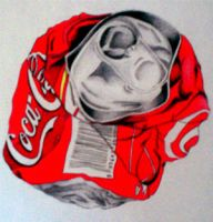 Coca cola can by Jfree