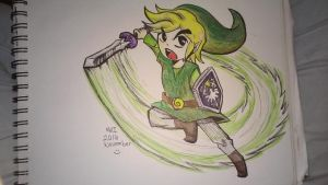 Toon link in color :) by lallibear