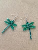 Beaded Dragonfly Earrings - Teal by WhiteMagicPriestess