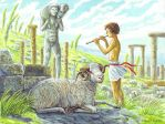 Survivor Hermes having a sheep by short'n curlies. by Nikkolainen