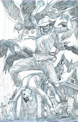 Pin Up 05 Batgirl Scarecrow Pencil Small pin up 05