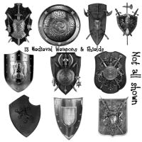 13 Medieval Weapon and Shields by Spyderwitch