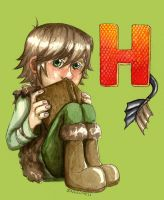 H for Hiccup by nekomell