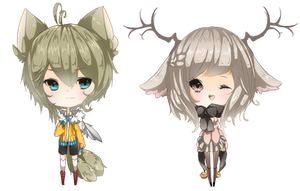 -collab- Kemonomimi Adopts [CLOSED] by Miivei