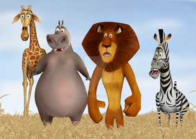 Four from Madagascar (redrawing) by Lelanna