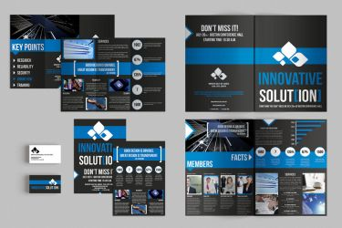Set of Brochures / Stationery 06 by andre2886