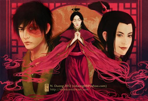 Avatar: The Fire Nation Royals by lilsuika