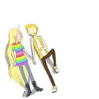 Human!Jake and Human!Lady by dettsu