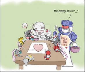 Optimus and chibis 5 by GoreChick