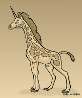 Giraffe quick drawing by Almairis