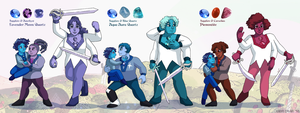 Ceannic Quartz Team Fusions by ErinPtah