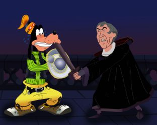 Goofy vs Frollo by AndrewSS23