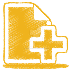Yellow-document-plus-icon by m-vandenterghem-2018