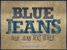 Blue jeans photoshop Styles by imakestock