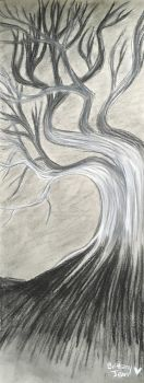 Charcoal Tree Doodle by Muse-4-Life