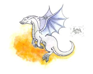 White Dragon - Hvitur by windinmysails